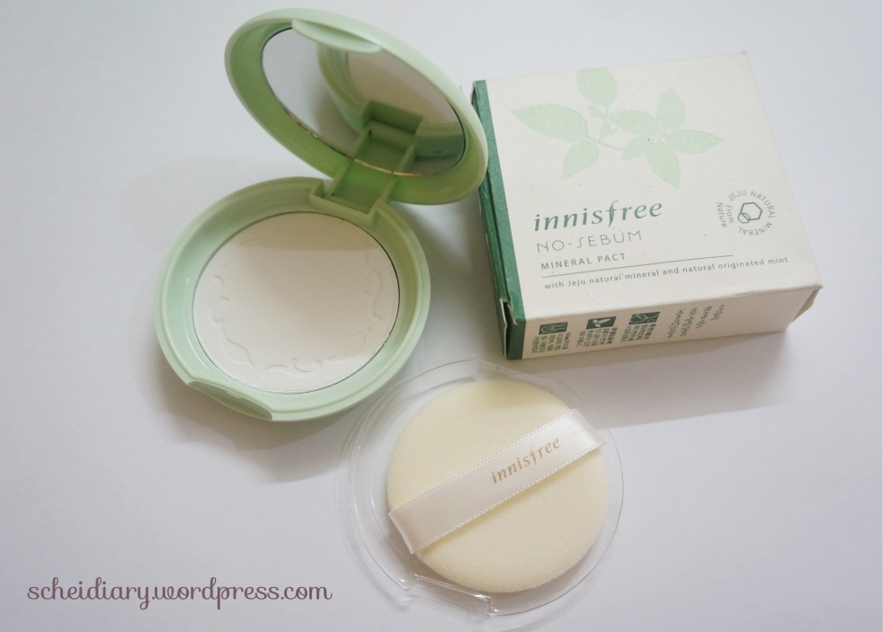 Innisfree No Sebum Mineral Powder Pact Review