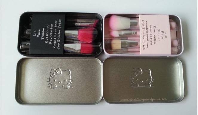 HK brush set black n pink